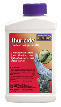 One brand of the microbial insecticide Bt.