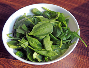 Spinach is great in salads.