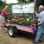 image: volunteers gardening