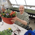 Participant happy with his garden