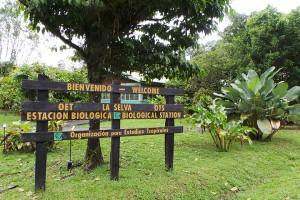 Sign at the entrance to La Selva Biological Station.