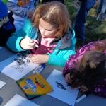 Children participating in Garden Crafts