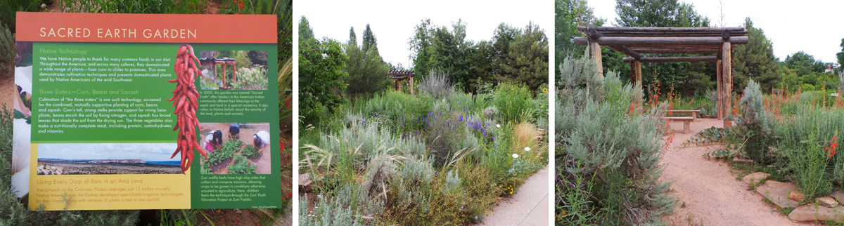 The Sacred Earth garden focuses on plants and gardening techniques by native cultures of the Four Corners area.