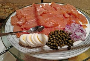 Capers are used in many Mediterranean dishes and traditionally served with lox.