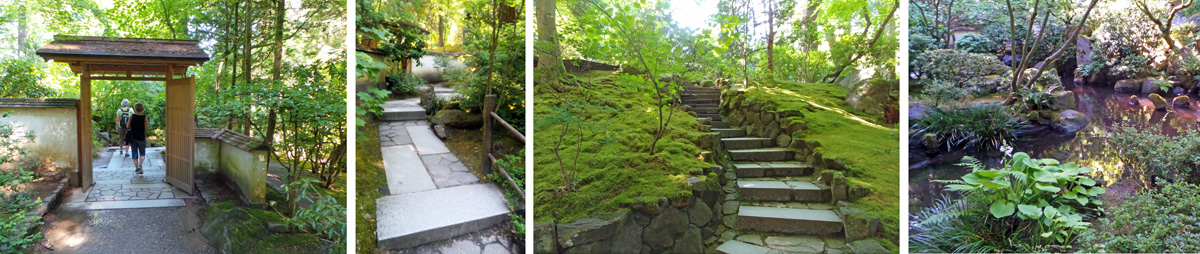 Stone steps and ponds at Natural Garden in Iconic Gardens of Portland