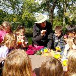 volunteering teaching kids how to garden