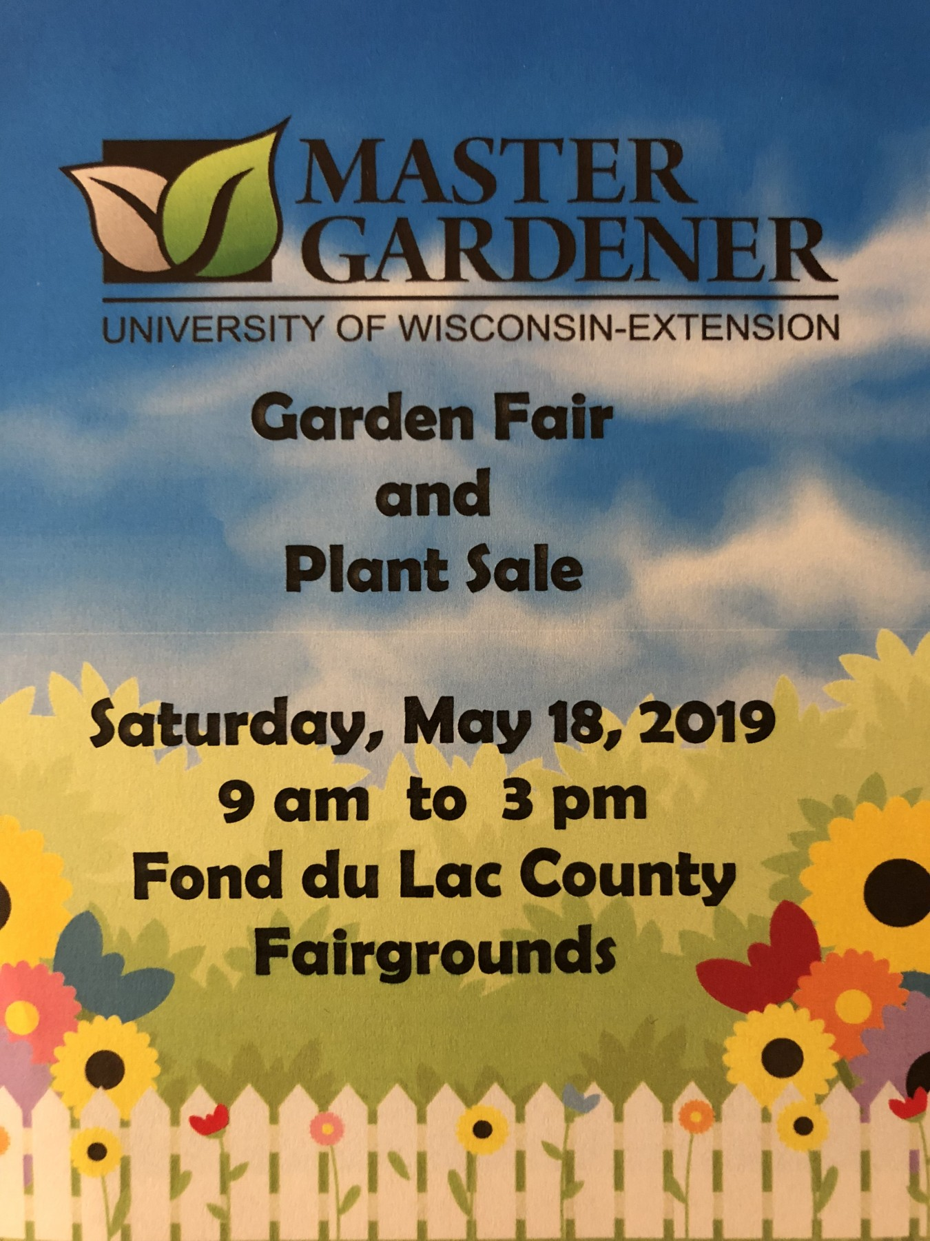 Garden Fair and Plant Sale in Fon du Lac County